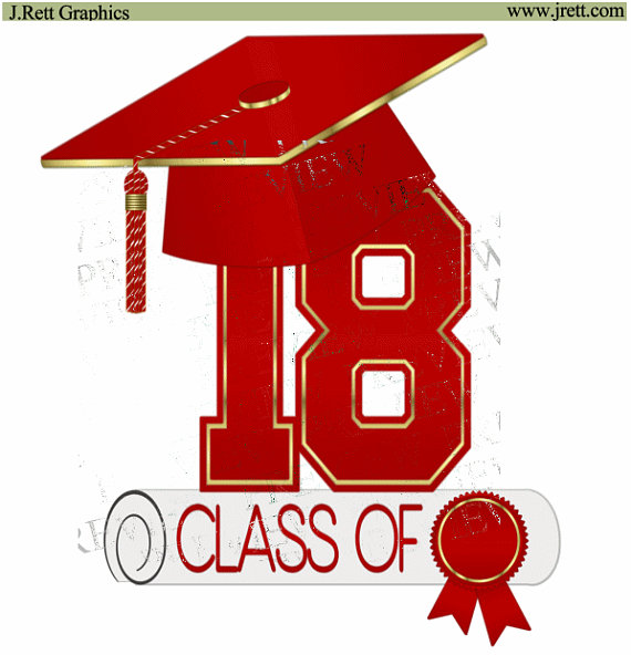 Class of clip art. 2018 clipart diploma