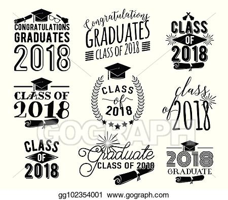 Vector stock graduation wishes. 2018 clipart diploma