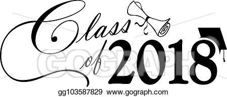 Vector stock class of. 2018 clipart diploma
