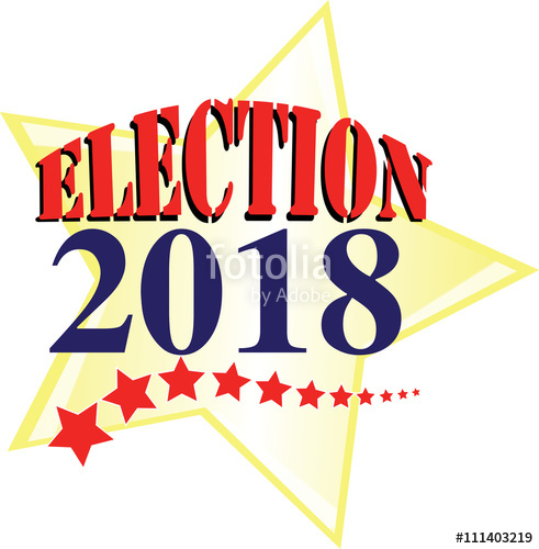2018 clipart election. American stars and stripes