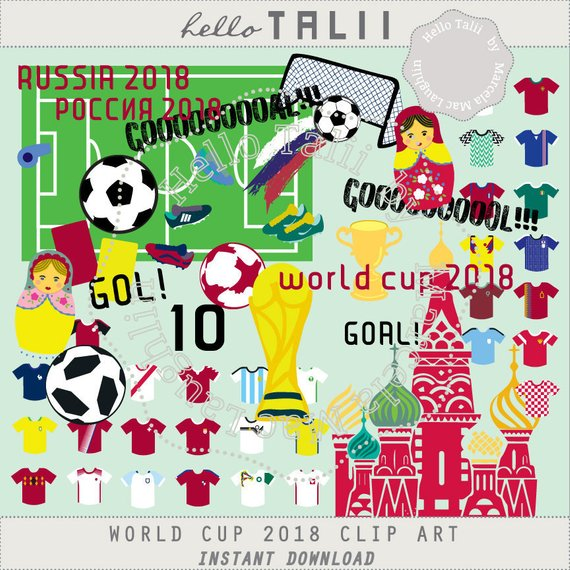 2018 clipart goal. World cup russia soccer