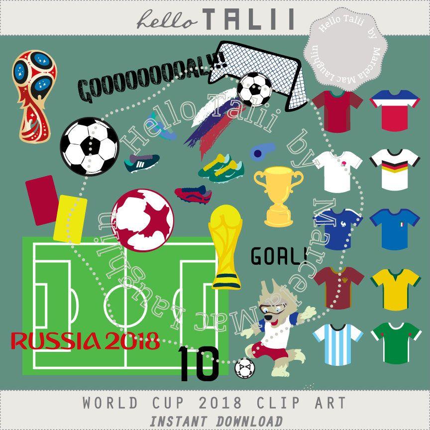 2018 clipart goal. Soccer world cup digital