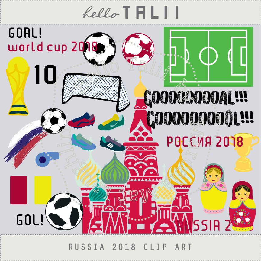World cup russia soccer. 2018 clipart goal