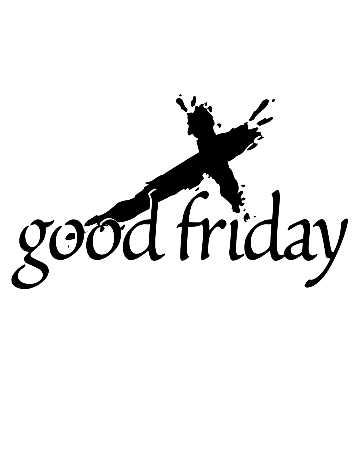 2018 clipart good friday. Beautiful of goodfridayimagesblackandwhite aloha