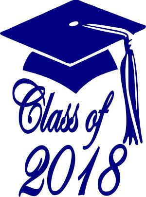 2018 clipart graduation. Class of cap svg