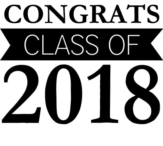 Congrats class of clip. 2018 clipart graduation