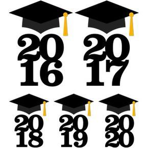 With year silhouette design. 2018 clipart graduation cap