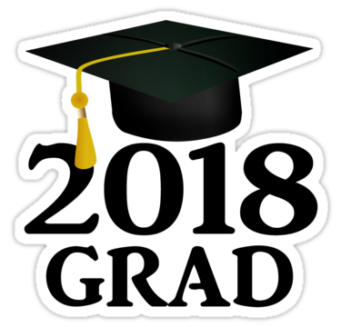 2018 clipart graduation cap. Class of stickers by