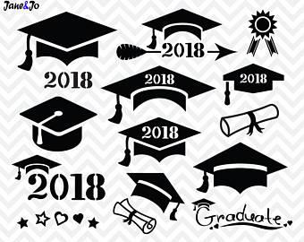 Etsy svg cap svggraduation. 2018 clipart graduation hat