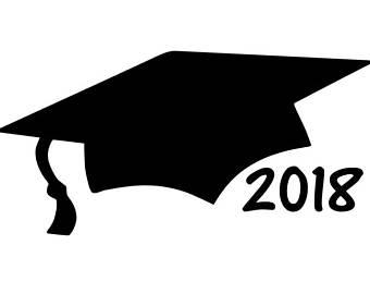 2018 clipart graduation hat