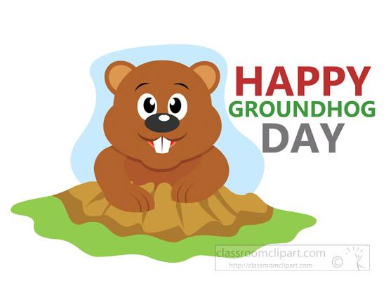Clip art weather ground. 2018 clipart groundhog day