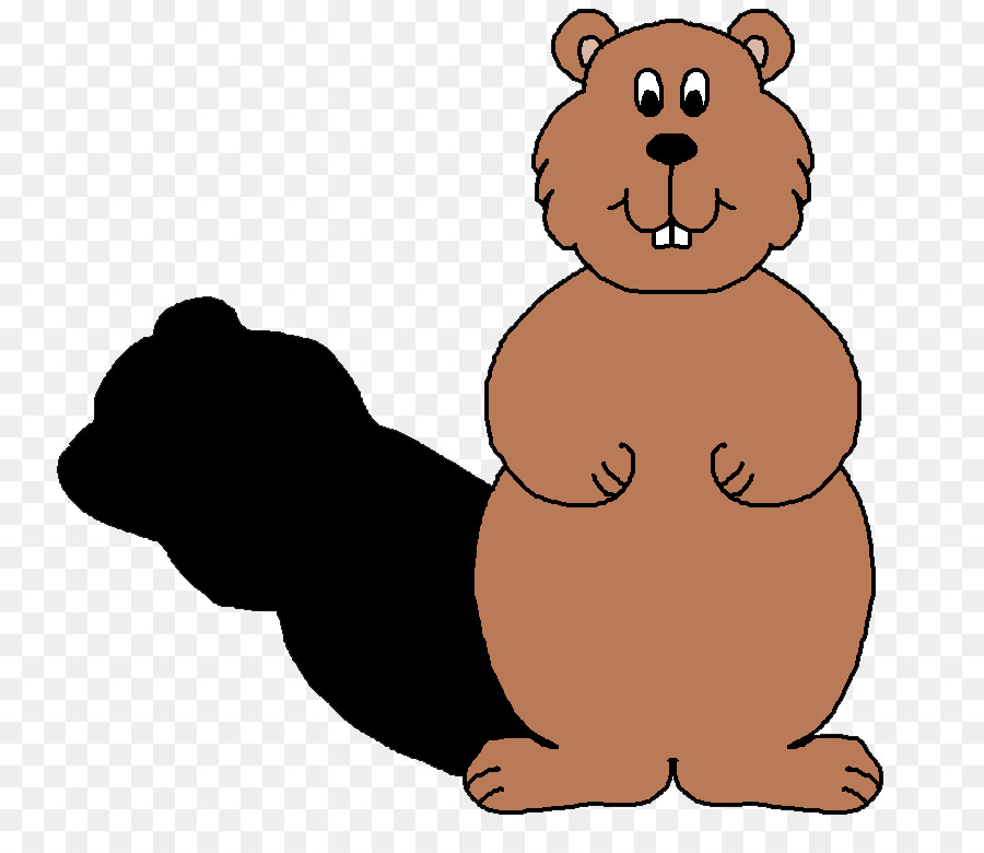 The clip art bear. 2018 clipart groundhog day