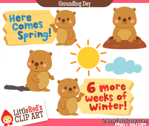 Images b fashion. 2018 clipart groundhog day