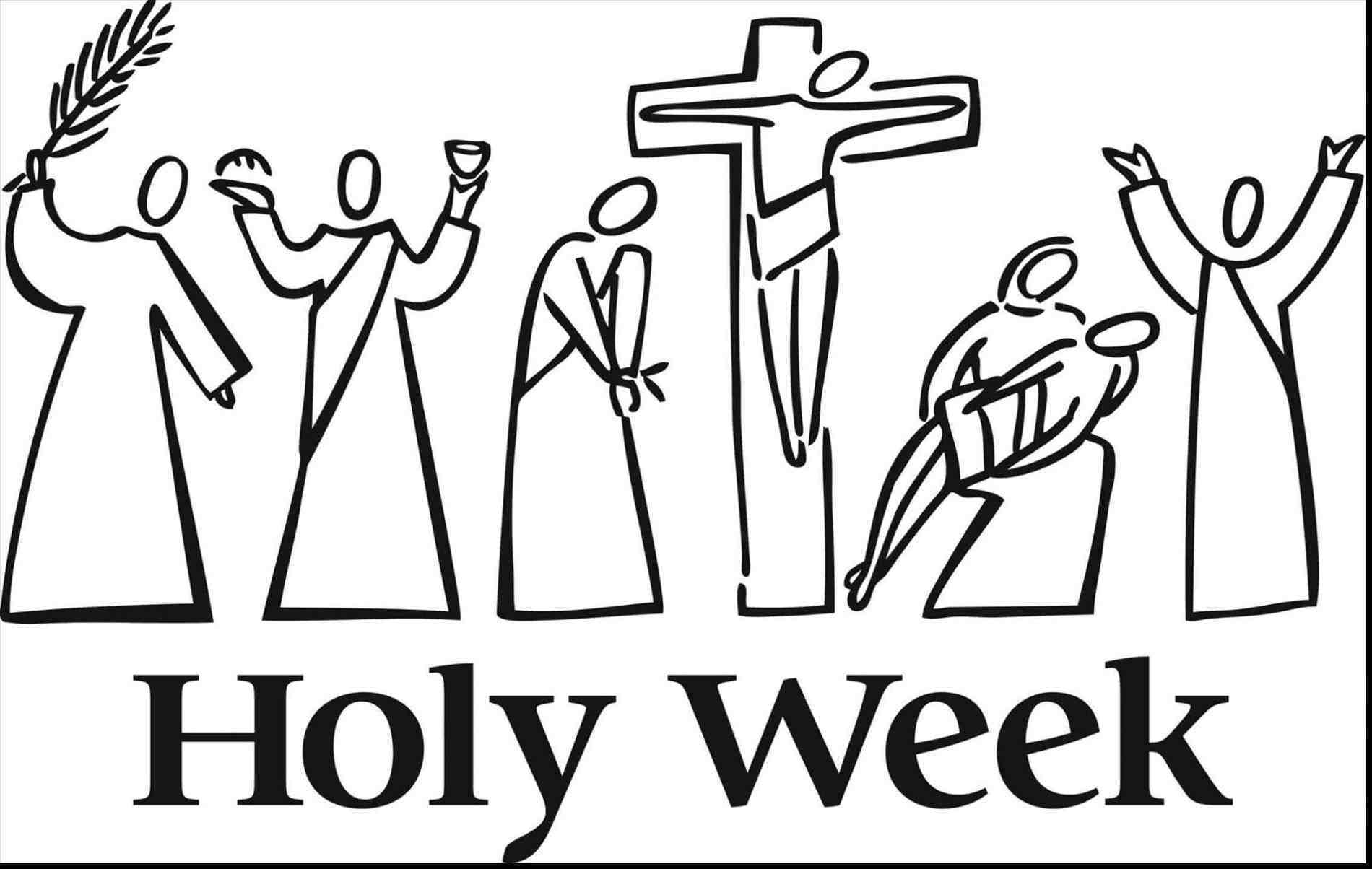 2018 clipart holy week. And easter schedule st