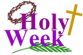 Image result for lent. 2018 clipart holy week