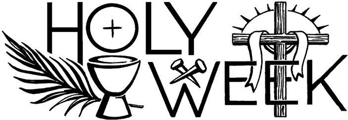 Services saint paul s. 2018 clipart holy week