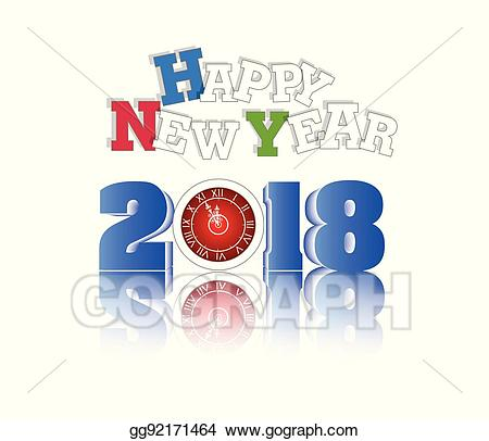 2018 clipart logo. Vector stock happy new