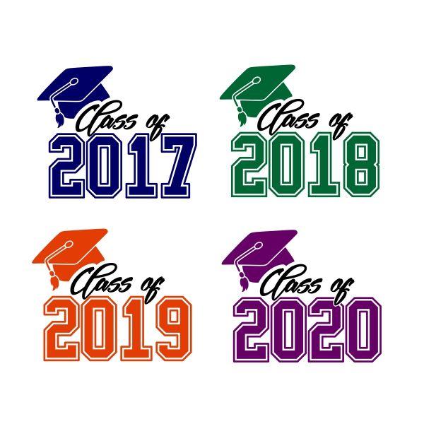 2018 clipart logo. Graduation class of cuttable
