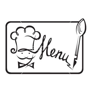 2018 clipart menu. Restaurant black and white