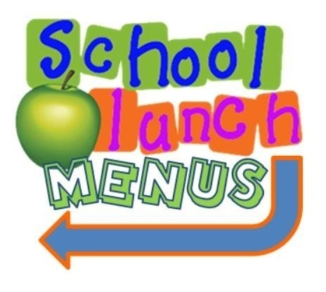 2018 clipart menu. School lunch printable and