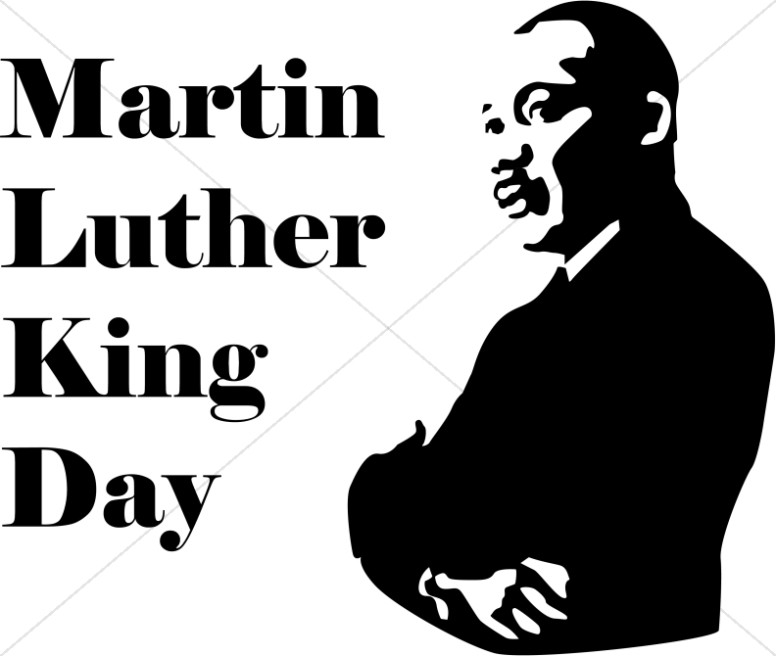 Martin luther king with. 2018 clipart mlk day