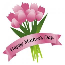 Images black and white. Bouquet clipart mothers day