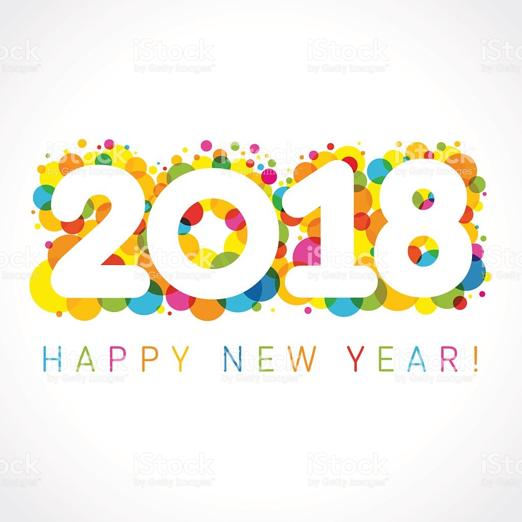 Happy station . 2018 clipart new year