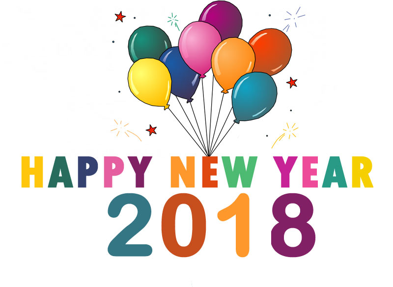 Happy cilpart stupendous images. 2018 clipart new year
