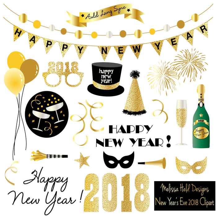 Year s mygrafico years. 2018 clipart new year's eve