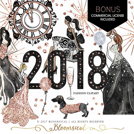year s clip. 2018 clipart new year's eve