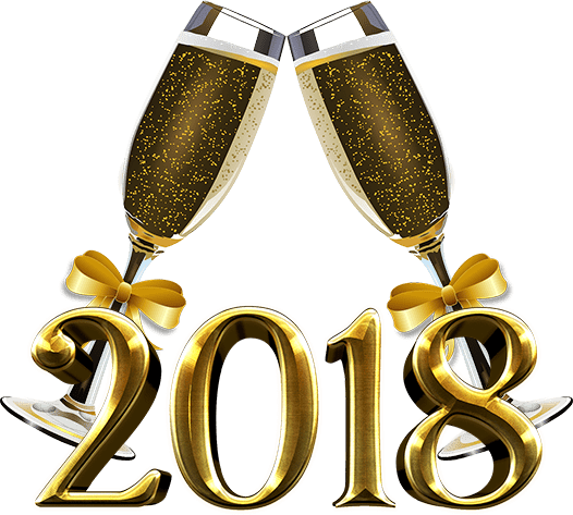 2018 clipart new year's eve. Years party eat drink