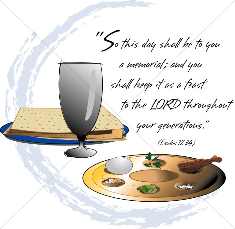 Feast and exodus verse. 2018 clipart passover