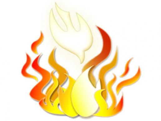 Pentecost clipart candle flame. On fire worship the