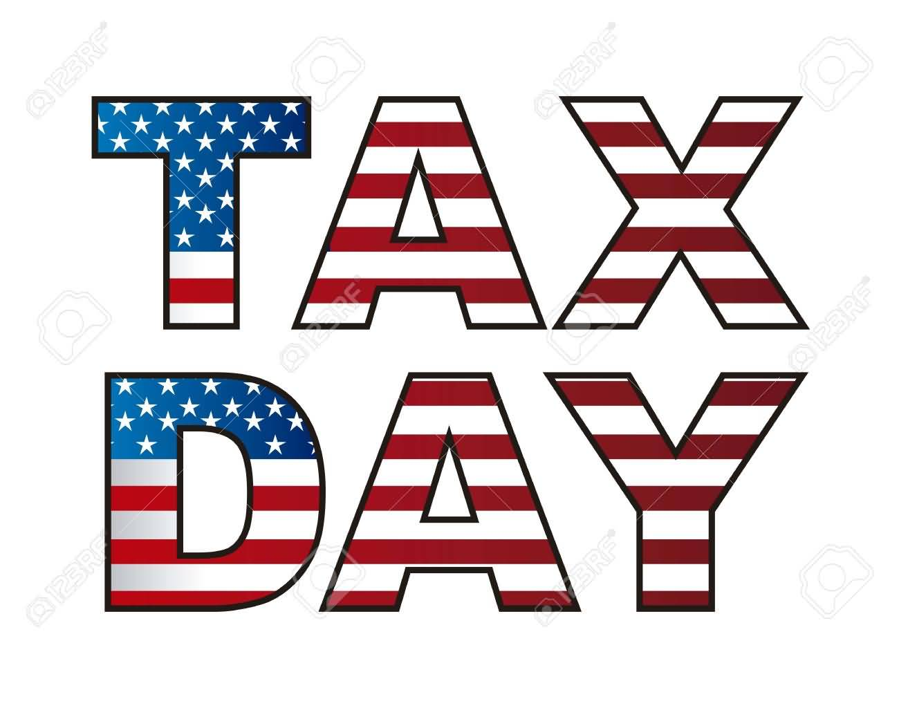 2018 clipart tax day. Askideas com american flag