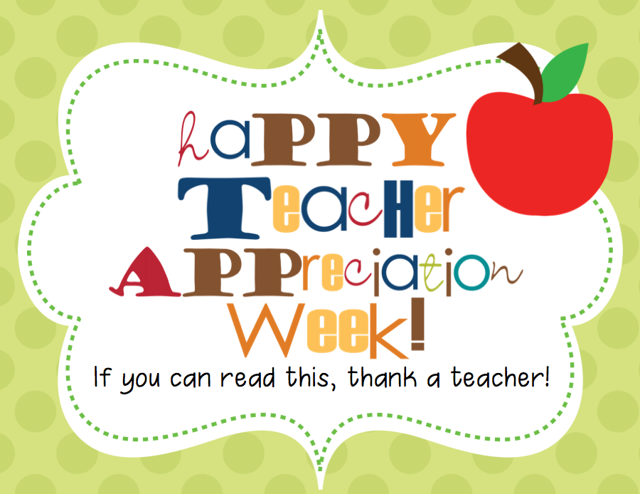 News you can use. 2018 clipart teacher appreciation week