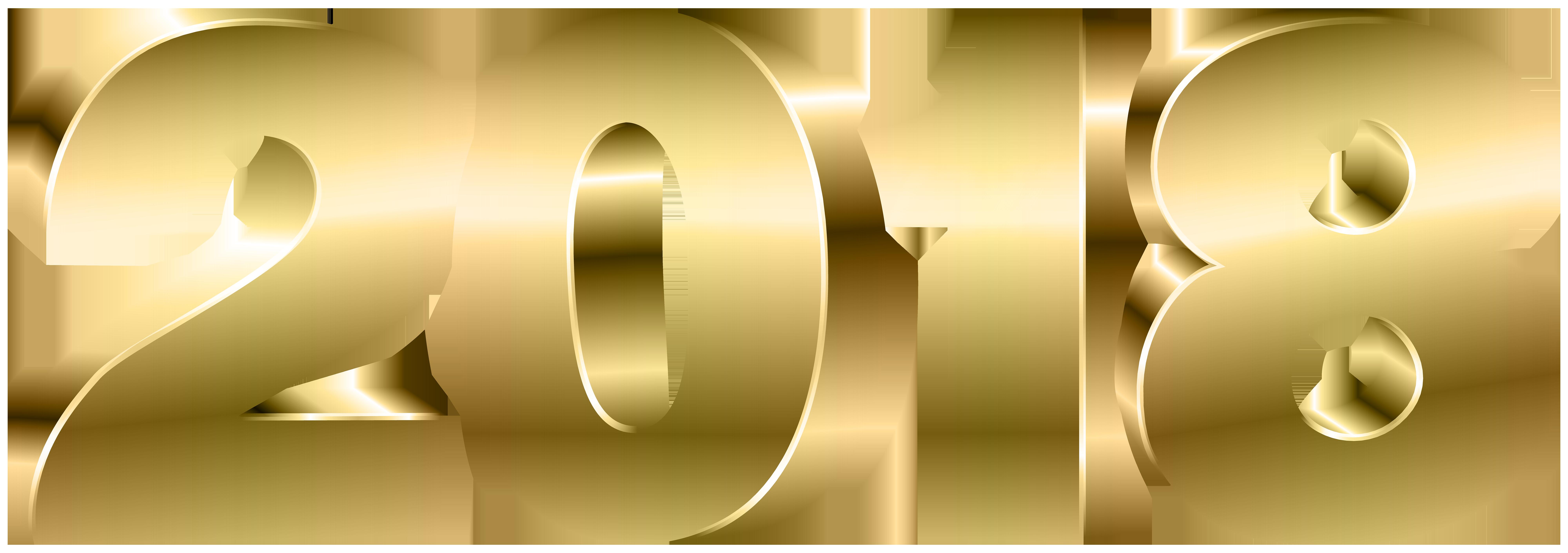 gold png image. 2018 clipart transparent background