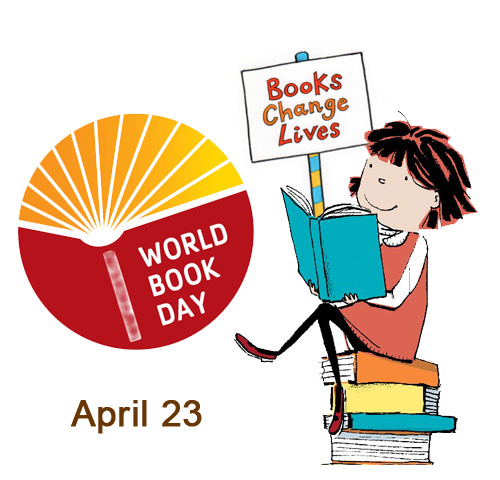And copyright library k. 2018 clipart world book day