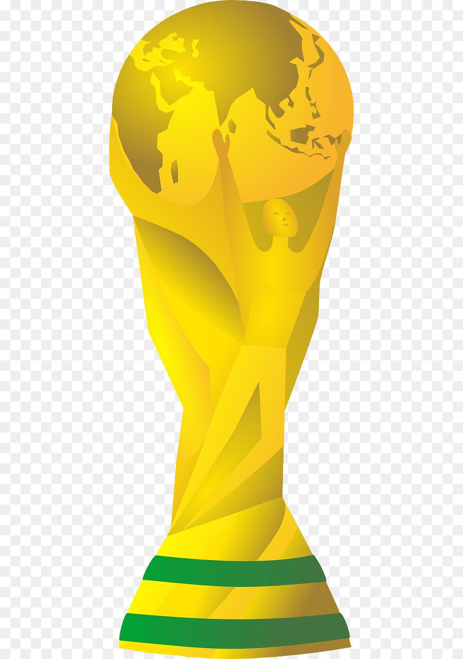 Trophy cartoon football yellow. 2018 clipart world cup