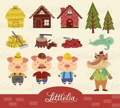 Three little pigs classic. 3 clipart 3rd