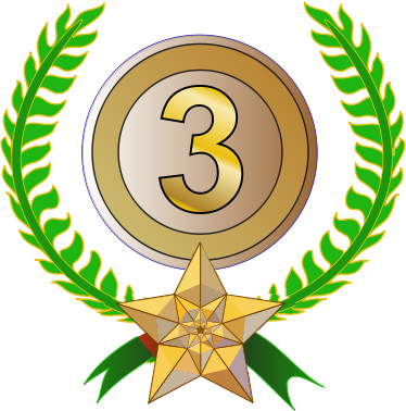 3 clipart 3rd.  rd place award