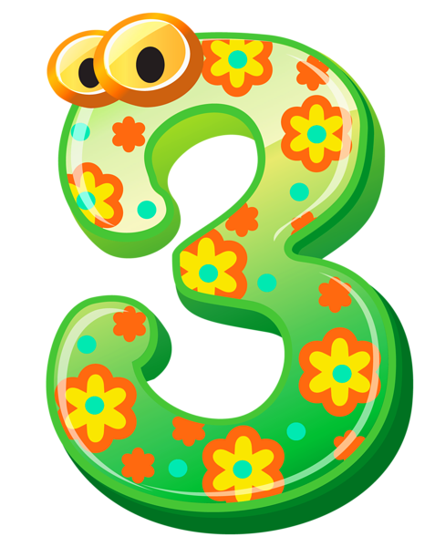 3 clipart 3rd. Cute number three png