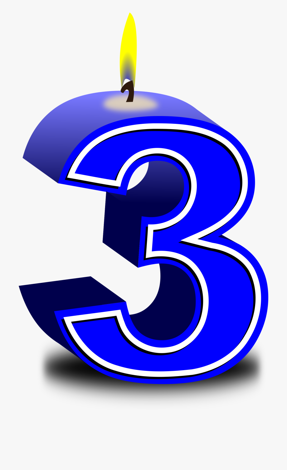 Birthday number rd happy. 3 clipart 3rd