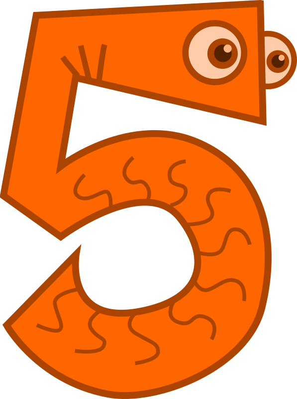 3 clipart animal. Cute numbers portal