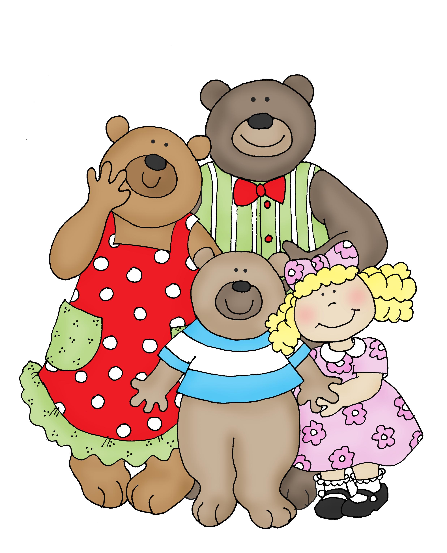Bears clipart three bears. Goldilocks and the x