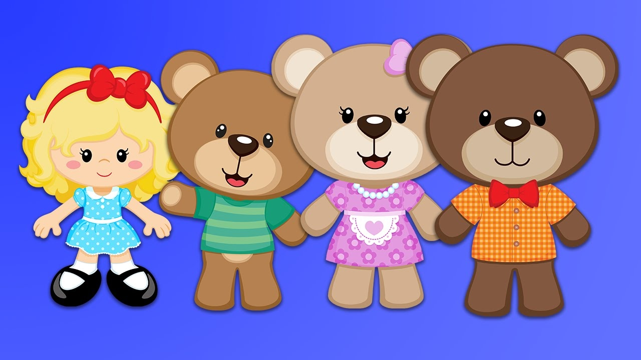 3 clipart bears. Goldilocks the story for
