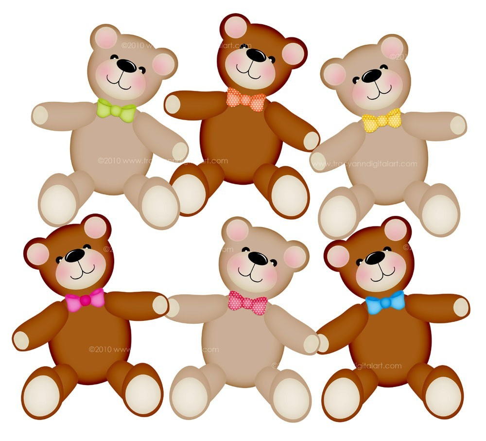 Teddy free images clipartix. 3 clipart bears