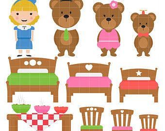 3 clipart bears. Goldilocks and the pinterest