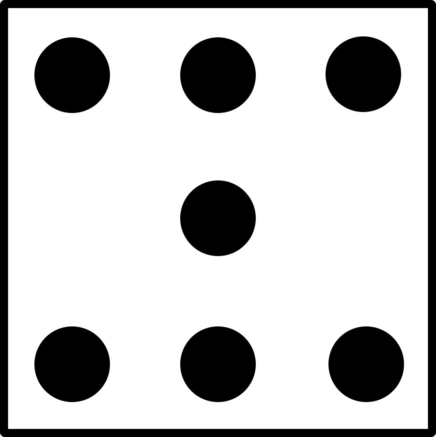 Number dice clipground incredible. 3 clipart black and white