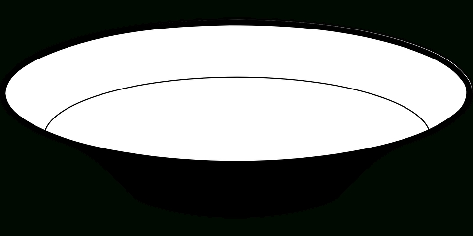 3 clipart black and white. Bowl writings essays station