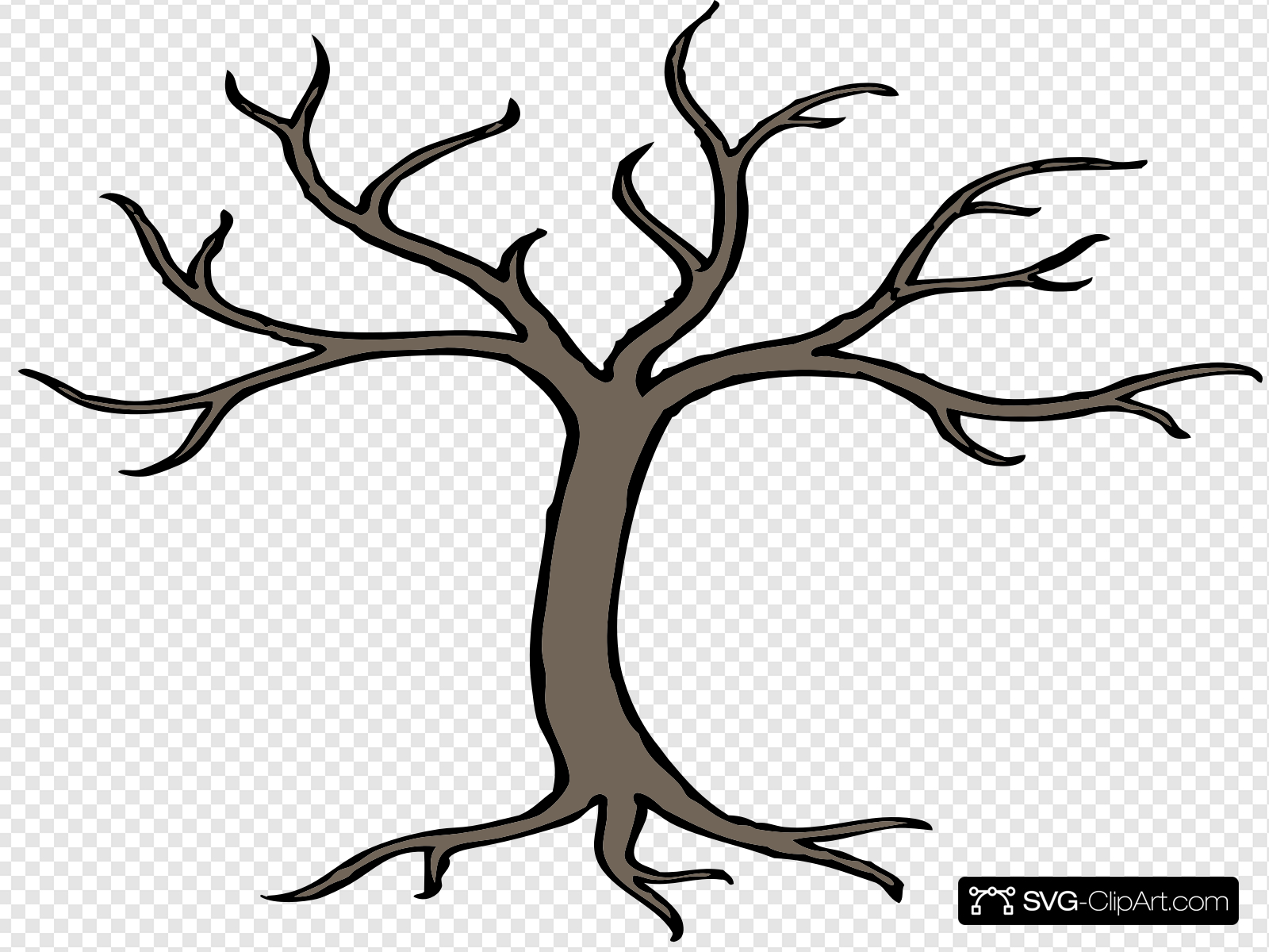 Tree with branches clip. 3 clipart branch